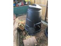 Compost bin one with door one without
