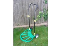 Garden Waste Collapsible Pop Up Bag Trolley Sack Truck with Rake Tool Holder Hooks