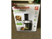 Morphy Richards electric spiralizer - brand new in box