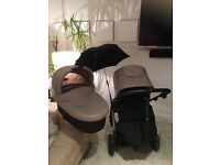 Mamas and Papas sola 2 complete travel system in camel & black