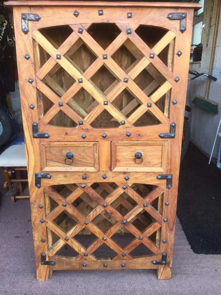 Beautiful solid wood wine cabinet / rack | in Chippenham ...