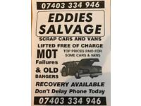Scrap cars & vans wanted