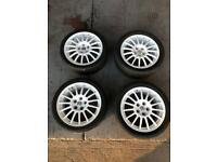 "17"" Multi spoke light weight alloy wheels"