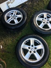 Honda alloys and tyres
