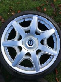 "19"" Bentley alloys"
