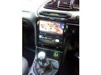 Car stereo single din dvd player