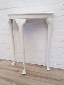 Painted Half Moon Table (DELIVERY AVAILABLE)