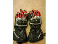 Mens Leather Buffalo Motorbike Gloves.