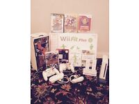 wii console , games, gun, wii fit plus, controls all in good working condition.