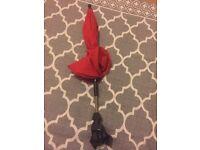 Pram/buggy red umbrella