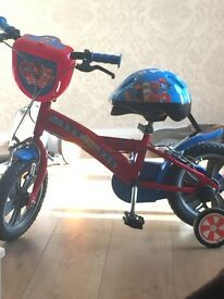 "12"" paw patrol bike with helmet like new used twice"