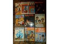 Set of 10 vintage Blue Peter Annuals numbers 2-12