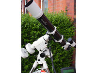 SkyWatcher HEQ5 Pro Mount / SynScan GO TO Handset / Tripod / Weights