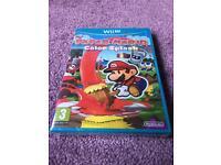 Paper Mario Color Splash Wii U Game! Sealed!