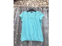 Women's SOUTH teal top, size 14