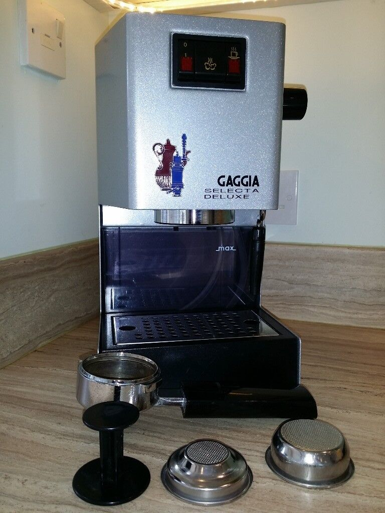 GAGGIA Selecta Deluxe Expresso coffee machine with milk steamer wand ...