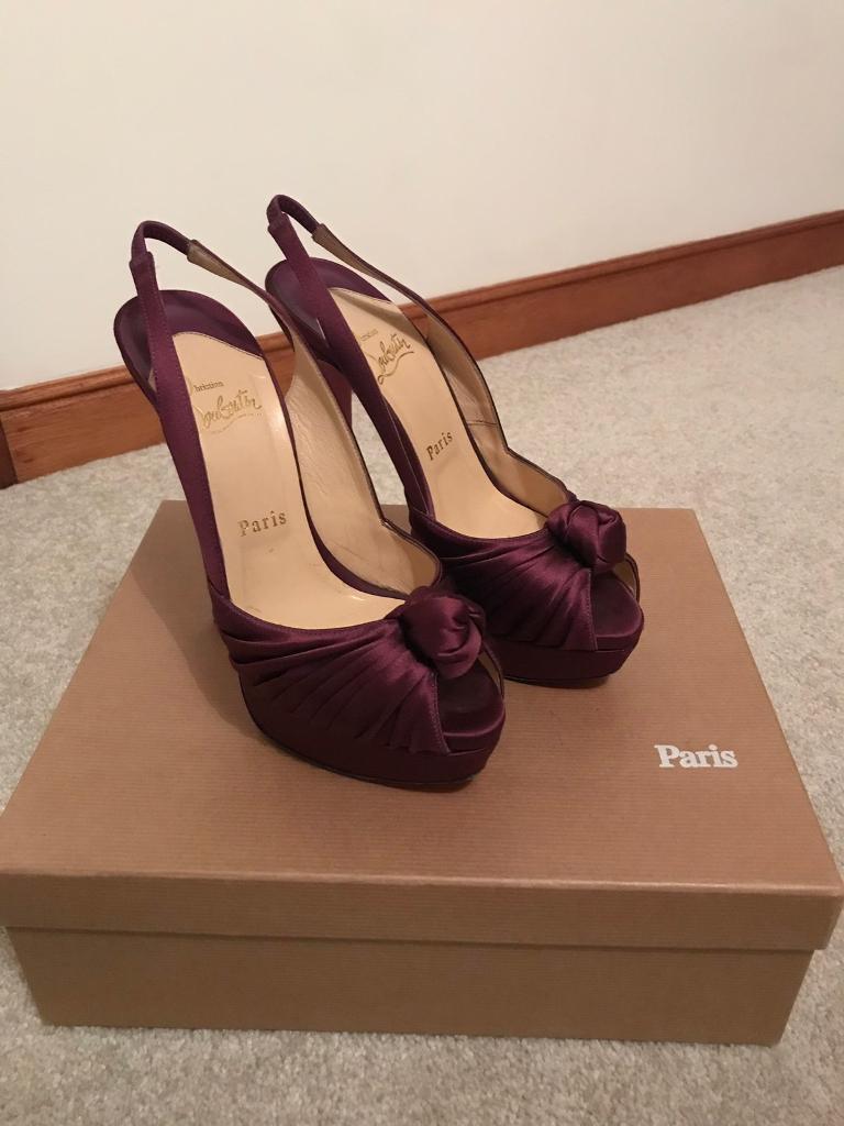 b30f1578735d Christian Louboutin Jenny Purple Satin Heels