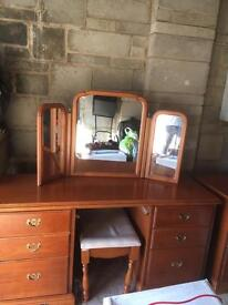 Dressing Table and Mirror with stool