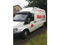 Man And van plus rubbish uplift removal from £10 2 man team