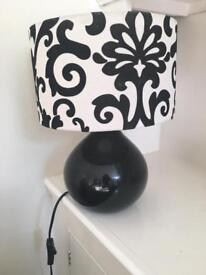 Black and white lamp for sale