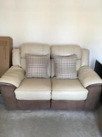 3 & 2 seater leather electric recliner