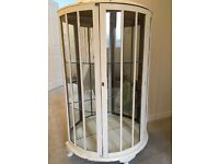 Vintage Semicircular Glass/Mirror Display Cabinet