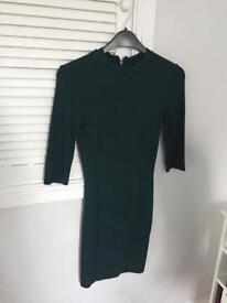 Green topshop dress size 6