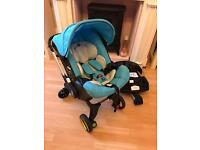 Doona Car Seat Stroller in Sky Blue with Isofix Base
