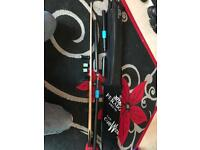Peradon Eden 3/4 snooker cue and extras