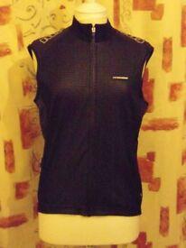 Ladies Moozes Sasha Sleeveless Windshell Jacket. Black. Size 2XL = UK 18
