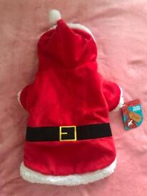 Dog Santa suit jumper size small brand new
