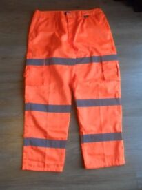 Super Touch Reflective Work wear Hi visibility 3 band combat work pants