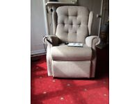 Riser Recliner Chair in excellent condition. Hardly been used. Comes apart for easy transport.