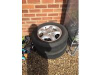 Land Rover freelander alloys and tyres set of 5