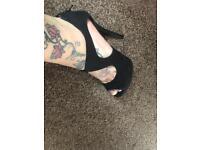 Beautiful black high heels size 3