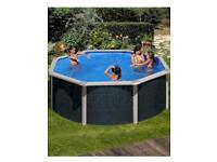 Aqua-world rattan effect steel wall swimming pool with upgraded sand filter