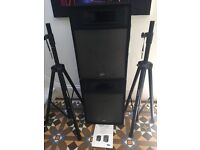 PEAVEY Messenger Pro 15 Speakers + pair of Pro stands as new, with bag