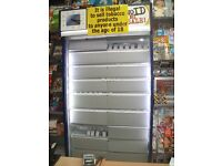 Cigarette Tobacco Gantry display unit flaps LED lights locking shutter & spring loaded dispensers