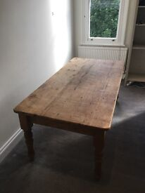 Farmhouse style Dining Table 6ft Long