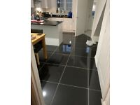 4 600x600mm Super Black Polished Porcelain 600 x 600 Floor Tiles (Cookridge, Leeds)
