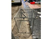 Gas cage metal and really strong galvanised