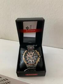New Men's Titan Chronograph Watch