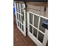 15 x Small Panes of Clear Frosted Glass - ideal project