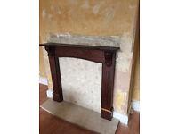 Fire surround, mantelpiece, hearth stone - £20
