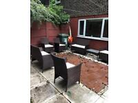 Two sets of garden furniture