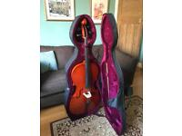 Cello full size 4/4 including hard case and soft gig bag