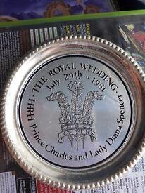 Prince Charles and diane wedding memorabilia