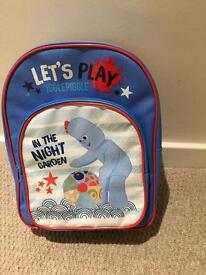 In the night garden children's backpack rucksack