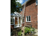 Double Aluminium Ladder - 8 Metres Extended