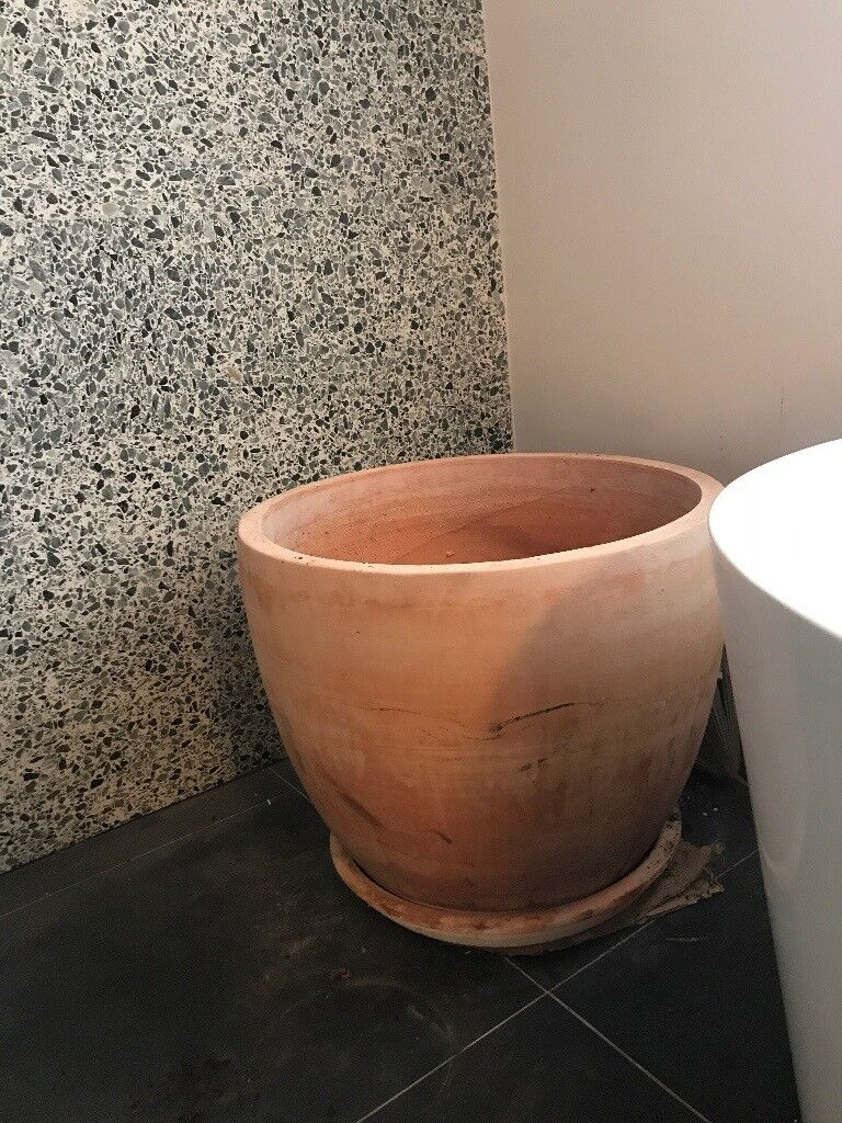 Large Terracotta Planter Pot With Base In Kentish Town London